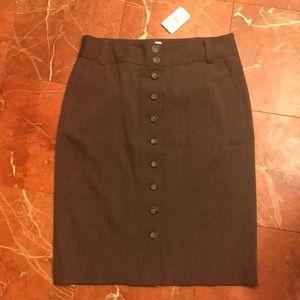 Banana Republic Brown wool poly span skirt
